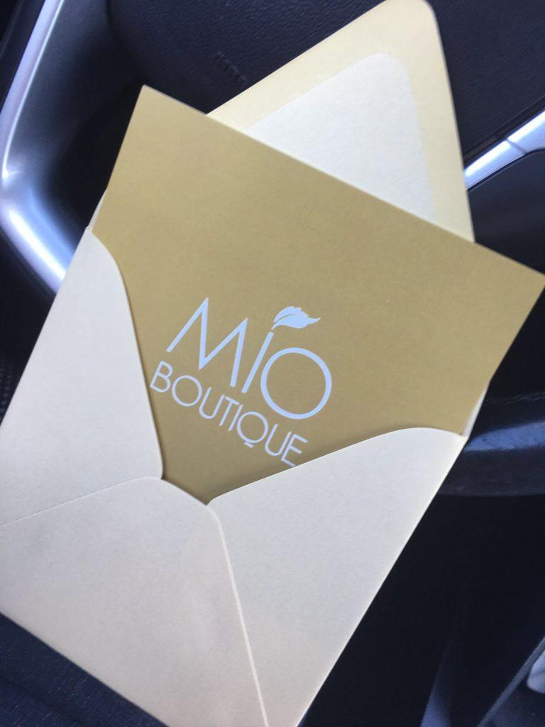 MIO BOUTIQUE - Invitation Card